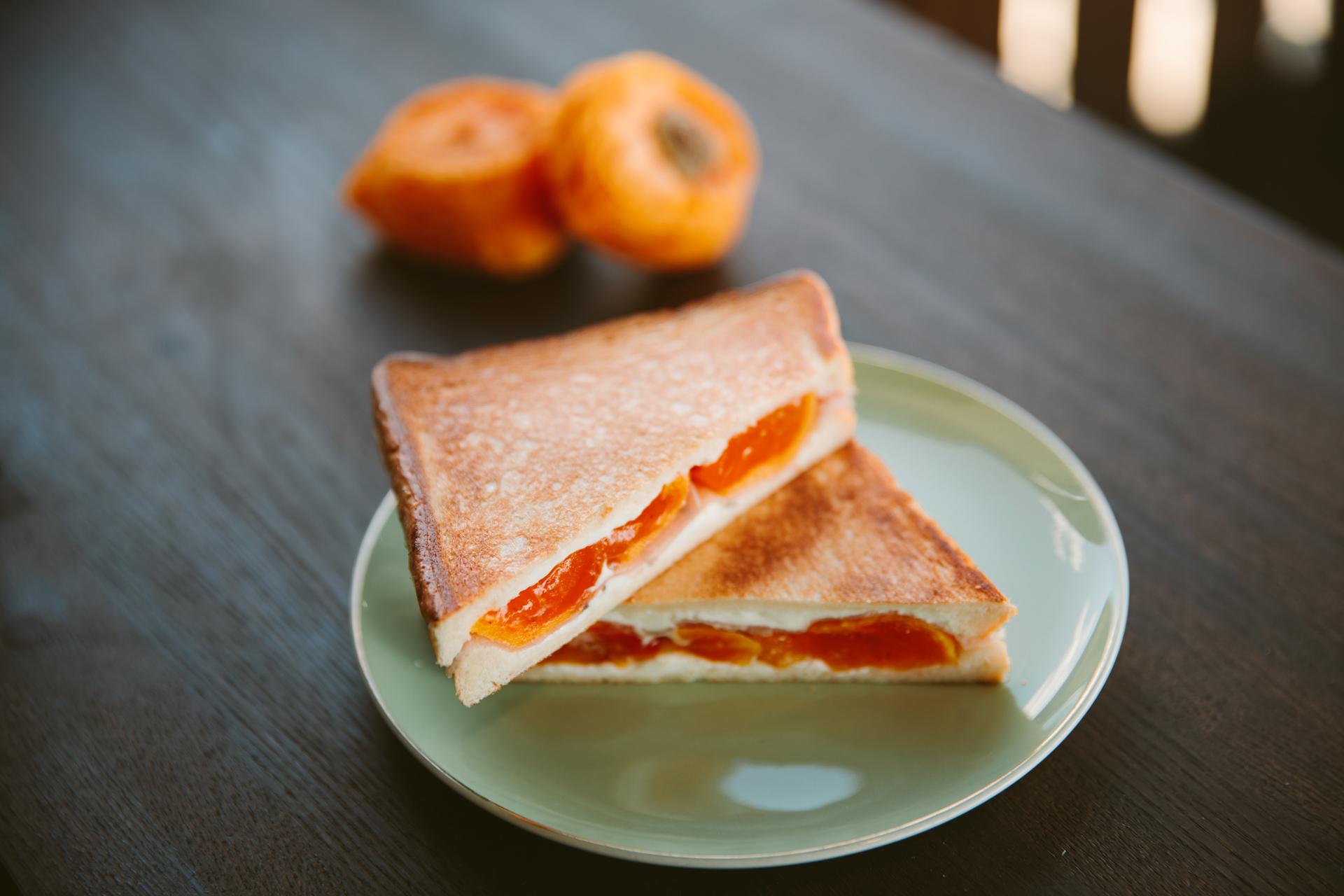 あんぽ柿のホットサンド